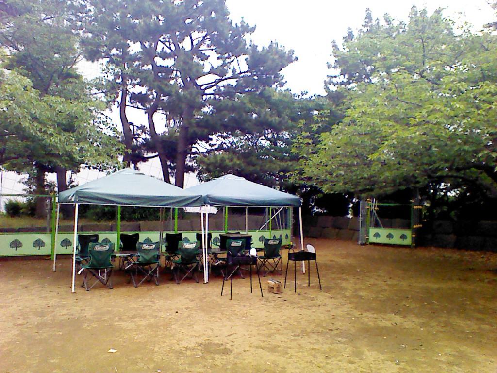 晴海埠頭公園バーベキュー広場機材設置