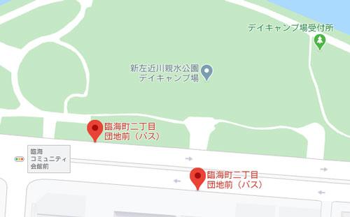 新左近川親水公園デイキャンプBBQ場周辺のバス停